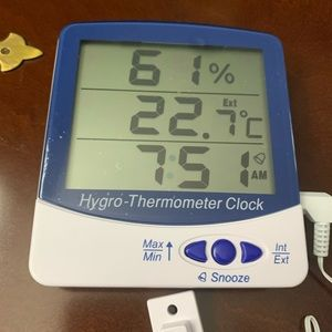 thermco products inc Other - Hygro thermometer clock